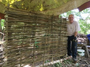 Hazel hurdle for Castor Church